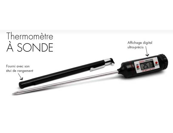 Thermometre sonde de cuisson electronique - Thermometre de cuisson darty ...