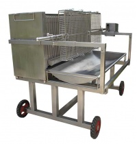 SP1200CDB COMPLET: Barbecue Professionnel en Inox à cuisson verticale (1200 mm)